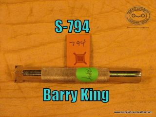 S-794 – Barry King waffle stamp, 1-2 inch square – $40 00