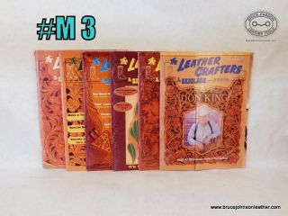 M3 – Leather Crafters Saddlers Journal 1999 set., all patterns inside - $18