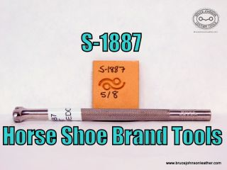 S-1887 – Horse Shoe Brand Tools dot and wave border stamp – $45.00