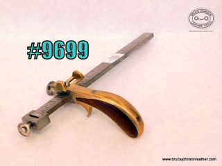 9699 – CS Osborne 8 inch brass draw gauge with top guide – $150.00