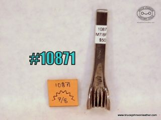 10871 – unmarked 7/8 inch pinking punch – $50.00