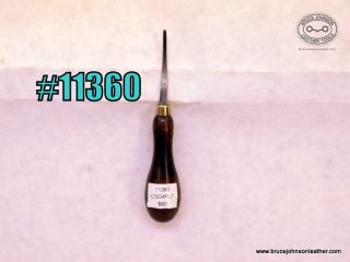 11360 – CS Osborne #4 patent leather tool, freehand stitch Groover – $80.00.