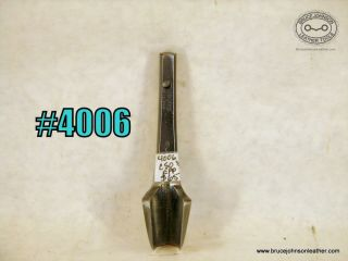 4006 – CS Osborne 1/2 inch English point punch, hole drilled in shank for hanging – $65.00