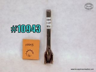 10943 – unmarked 1/2 inch pinking punch – $50.00