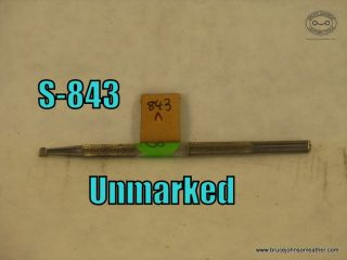 843 – unmarked mule foot 3-32 inch wide abased – $20.00