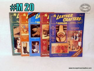 M 20 – Leather Crafters Saddlers Journal – 1994 missing January February issue – all pattern inserts included inside – $15.00
