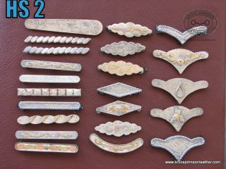 silver trim, mix of sterling and silverplate, all Chicago screw fittings on backs, – $75.00