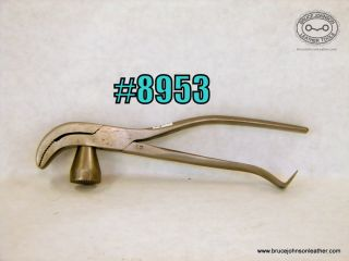 8953 – Union Whitcher #42 lasting pliers with 1/2 inch jaws – $45.00