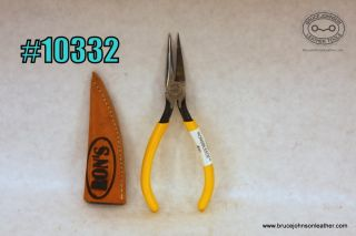 10332 – Ron's tools string bleeding pliers, One jaw is sharpened to cut the slit, reach through with the pliers and pull the tag end back – $50.00