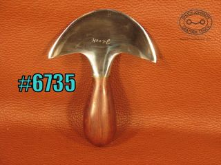 6735 – J Cook round knife, 4 inches wide – $160 00