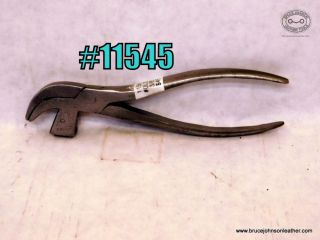 11545 – #0 lasting pliers, 3-8 inch wide at the tips approximately 6 inches long cutest size ever – $45.00