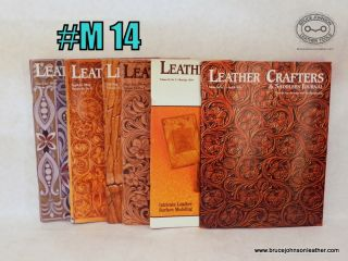 M14 – Leather Crafters Saddlers Journal, 2014 set all pattern inserts included inside – $18.00