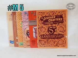 M5 – Leather Crafters Saddlers Journal – 1996 set all patterns intact inside – $18.00