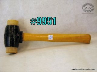 9951 - CS Osborne  3 pound rawhide mallet with new faces - unused - $60.00