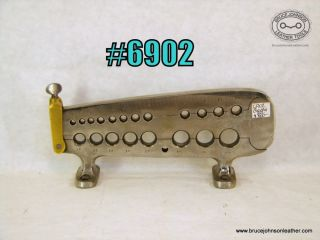 6902 – CS Osborne 20 hole double deck rein rounder, 1-8 – 3-4 inch holes, another view to follow – $500.00