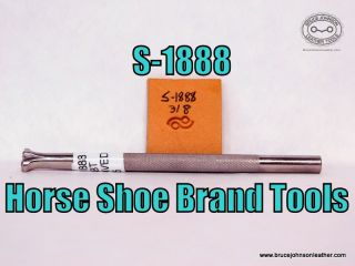 S-1888 – Horse Shoe Brand Tools dot and wave border stamp, 3-8 inch – $45.00