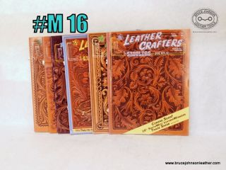 M-16-Leather Crafters Saddlers Journal, all pattern inserts included inside – $18.00