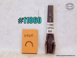 11060 – unmarked 1/2 inch pinking punch – $50.00