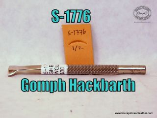 S-1776 – Gomph Hackbarth blind and scalloped vein stamp, 1-2 inch – $30.00