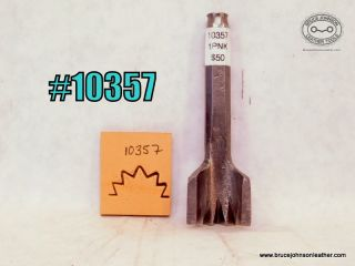 10357 – unmarked 1 inch pinking punch – $50.00