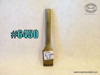 6450 – Brindley/Adams #15 pricking iron – $50.00